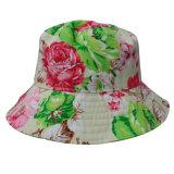 Chapéu da cubeta com tela floral (BT025)