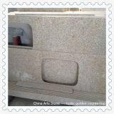 Bancada chinesa da laje da pedra do mármore do granito (ouro de Brasil)