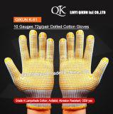 K-81 10 измерительных приборов 72g/пары одна из сторон пунктирной трикотажные рабочие перчатки из хлопка безопасности