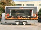 Crepe 트럭 간이 건축물 핫도그 햄버거 도넛 이동할 수 있는 인력거 음식 손수레