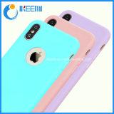 Suave flexible de teléfono de TPU para iPhone X para el iPhone 10 caramelos de colores accesorios de telefonía teléfono caso