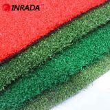 Grama artificial do mini golfe da cor vermelha, relvado sintético ao ar livre