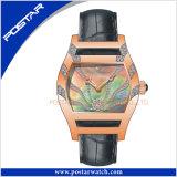 Mesdames Watch montre suisse avec bande de cuir