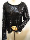 Frauen-Form kleidet Acrylsequins-Kleid
