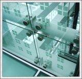 手すりのための12mmの明確なか曇らされるか着色された緩和されたガラスかドアまたは塀またはカーテン・ウォール