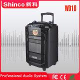 "Shinco 새로운 디자인 휴대용 Bluetooth 트롤리 10 "" karaoke 무선 스피커"