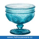 De in reliëf gemaakte Kom van het Roomijs van het Glas van de Drinkbeker