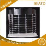 Coffret d'étalage acrylique d'étage transparent fait sur commande pour le produit de beauté/chaussure/montre