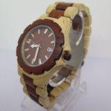 Da forma de madeira natural pura do relógio do OEM relógio de madeira de quartzo do pulso