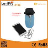 USBの料金が付いている屋外の再充電可能なLEDのキャンプの軽い太陽ランタン