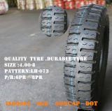 中国の工場は直接供給する良質のオートバイのタイヤ(4.00-8)を