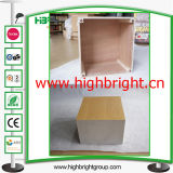 Magasin de mode en bois Cube Display Pedestal