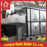 Double chaudière à vapeur industrielle allumée de grille de chaîne de tambours par charbon