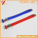 선전용 선물 (YB-SM-04)를 위한 USB를 가진 실리콘 소맷동