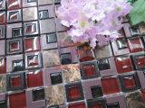 Mezcla de plástico de color rojo mosaico de vidrio y piedra (CSR091)