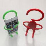 Flexible lindo humano forma de silicona titular del teléfono celular