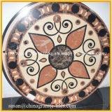 自然なウォータージェットの大理石の床の円形浮彫り、大理石の円形浮彫り