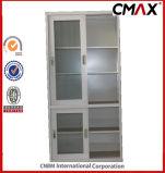 Kabinet cmax-FC04-005 van het Bureau van de Deur van het Glas van de Kast van het Metaal van de Archiefkast van het Kabinet van het staal Uitglijdend