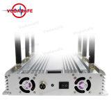 Mesa GPS Bluetooth WiFi Lojack VHF UHF Jammer señal de teléfono 3G, WiFi 3G 4G celular Jammer señal