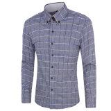 Chemise de robe du long de chemises homme de plaids (A418)