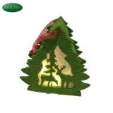 Decorazione & regali d'attaccatura dell'albero della renna di natale illuminati panno