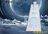 Luz de calle solar del panel de la lámpara del teléfono del control integrado todo junto del APP