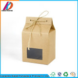 Packpapier-Tee-verpackenkasten Brown-Mit transparentem Fenster