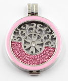 Fábrica Atacado de Moda 316L Stainless Steel Locket Jewelry with Enamel Top