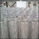 Maille perforée galvanisée par trou rond en métal