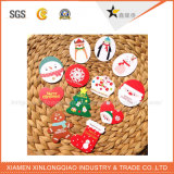 Étiquette chaude de coup de papier de bonne qualité de vente pour Noël