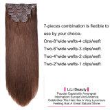 リリーの美はThick100g-220gの倍Drawn100%のブラジルのバージンの人間の毛髪の完全な毛の拡張のヘッドによって着色された三重のWeft Remyクリップをカスタマイズした