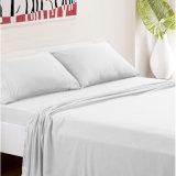 Hotel Casa de lujo de poliéster de microfibra ropa de cama de 4 piezas Conjunto Bedsheet