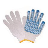 熱い販売のPVCによって点を打たれる綿の手袋