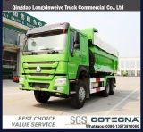 HOWO 336HP 6X4 20m3 25ton 무거운 쓰레기꾼 팁 주는 사람 트럭