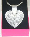 Halsband van de Ketting van de Slang van de Tegenhanger van het Hart van Drie Laag van de manier de Anti Zilveren