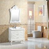 Nice vanité simple de salle de bains de PVC, Cabinet de salle de bains blanc de PVC