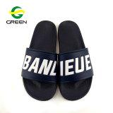 Plage de plat Greenshoe sandale chaussures, sandales dernière conception Mens PVC Custom de diapositives, de logo personnalisé hommes Diapositive sandale 2018