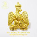 カスタム昇進の工場直売の金属のきらめきの真鍮の折りえりPin