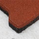El azulejo de goma de interior/la pavimentadora de goma colorida/recicla el azulejo de goma (GT0101)