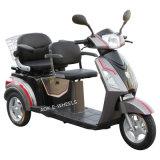 Tricycle électrique de luxe chaud de la vente 500With700W avec de doubles selles