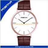 ステンレス鋼バンドを持つ人のための高品質の水晶腕時計