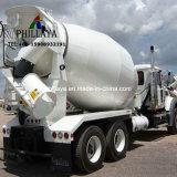 Site Constructioni Réservoir de mélange semi-remorque de camion mélangeur en béton de ciment