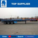 Het Voertuig van de titaan - 40 die van Flatbed Voet Aanhangwagen van de Vrachtwagen in China wordt gemaakt