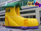 新しいデザイン靴形の膨脹可能なスライドの広告のための膨脹可能な警備員のスライド