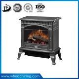 Garnitures intérieures de poêle de cheminée d'OEM brûlant le poêle de cheminée de gaz de fer d'enveloppe