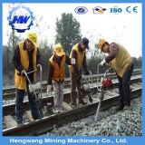 線路のための柵の充填機械
