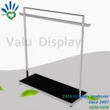 Visualización de la ropa del soporte de visualización de suelo de acero del metal para los almacenes