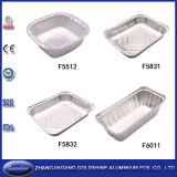 Convinent Compartment Aluminum Lunch Foil Container mit Two Zone