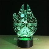 가장 새로운 별 전쟁 3D 환영 밤 연한 색 변경 접촉 스위치 테이블 책상용 램프