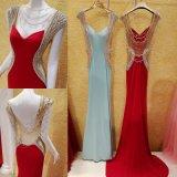 Style rétro robe de soirée Jewel A-ligne longueur de plancher en mousseline de soie Applique robe de bal W1471919